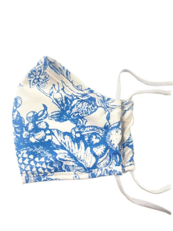 Face Mask, Pineapple Garden (Blue) - DN200-PGBL