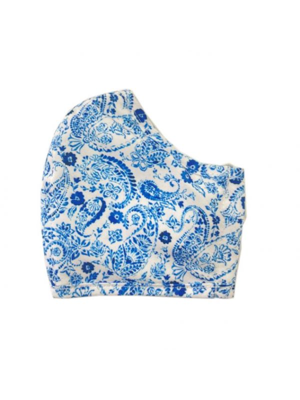 Face Mask, Paisley (Blue) - DN200-PYBL