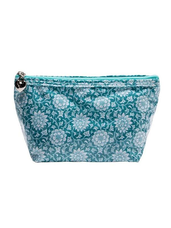 Cosmetic Bag (Small), Gerbera (Aqua) - DN300-GBAQ