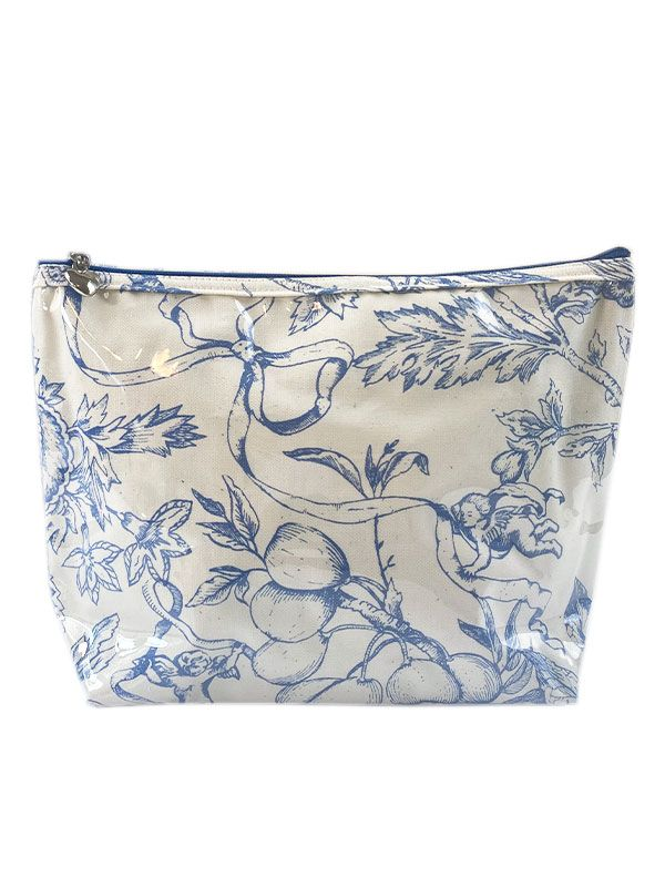 Cosmetic Bag (Medium), Pineapple Garden (Blue) - DN301-PGBL