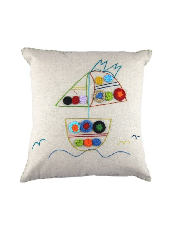 LL662 Sailboat Pillow**